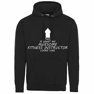 Black Awesome Istruttore come Hooded Hoodie Looks fitness di Swe XpqqnAwH4