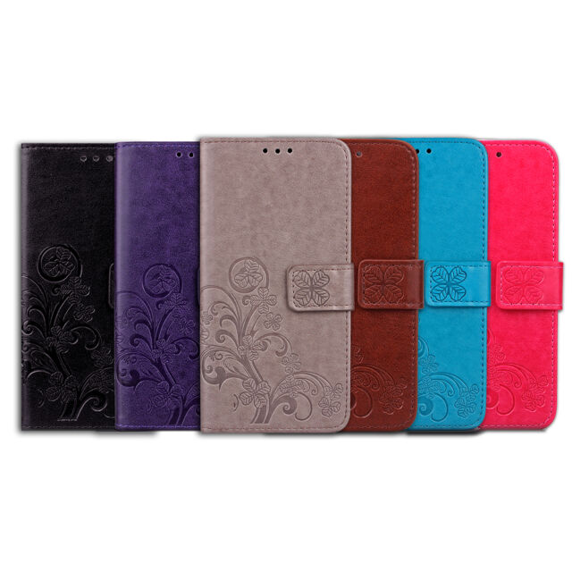 Magnetic PU Leather Wallet Flip Card Slot Stand Case Cover Strap For HTC
