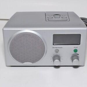 Boston Acoustics Recepter Radio Am/Fm Radio Dual Alarm Clock Gray Grey Sound EUC