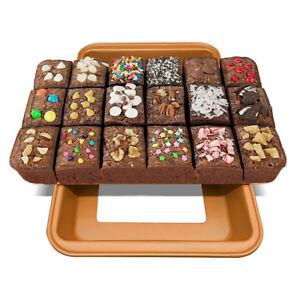 Cake-Mold-High-Carbon-Steel-Brownie-Bakeware-Bake-Pan-Sugarcraft-18-Cavities