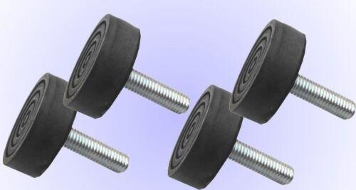 Laver maschinenfuß gummifuß gerätefuß Universal m10 Filetage stellfuß 4x