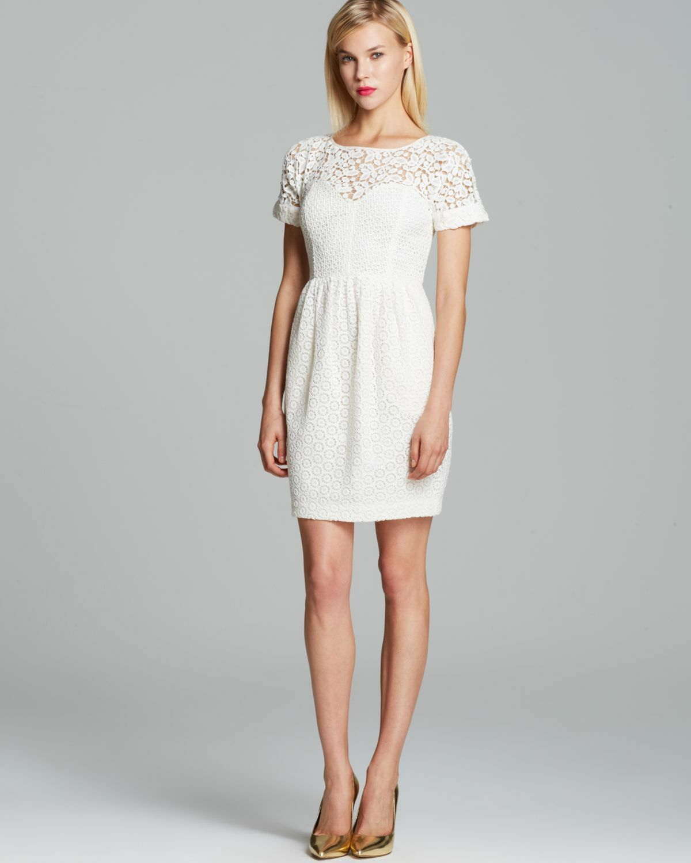 NWOT Anthropologie Catherine Malandrino Camilla lace embroiderot dress, 10 M