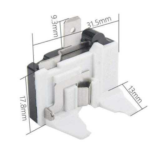 For 15Ohm 2Pin Compressor 1//6HP Refrigerator Starter Relay /& Overload Protector