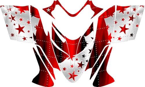 Polaris IQ RMK Shift Dragon Graphics Decal Sticker Kit 2005-2012 Stars Red