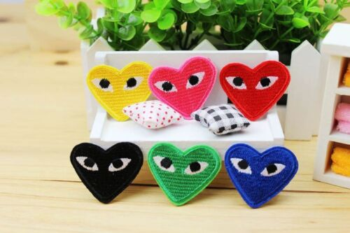 12pcs Embroidered Art Lovely Heart-shaped Eyes Patch Iron or Sew on Appliques