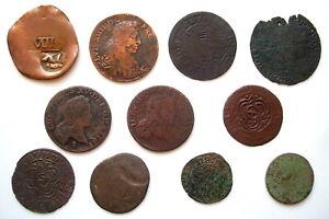 Beau-LOT-de-11-monnaies-FEODALES-et-ROYALES-avec-jetons-meme-periodes