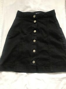 4adaf48f5a Button Up Front Black Skirt Mini Above The Knee Midi Missguided ...