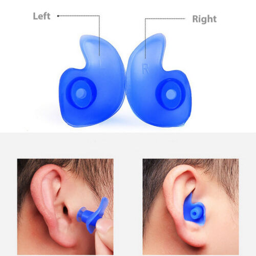 2x Swimming Earplugs Ear Protection Protective Ear Plugs Plug Silicone with Case