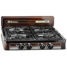 4 Burner Stove Outdoor Cooking Kitchen Backyard Gazebo Pergola Meals Propane Gas
