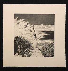 Holger Runge, INVERNO, acquaforte, 1977, a mano firmata e datata