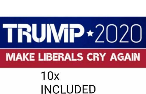 USA SELLER 10x *Donald Trump* 2020 Bumper Stickers MAKE LIBERALS CRY AGAIN