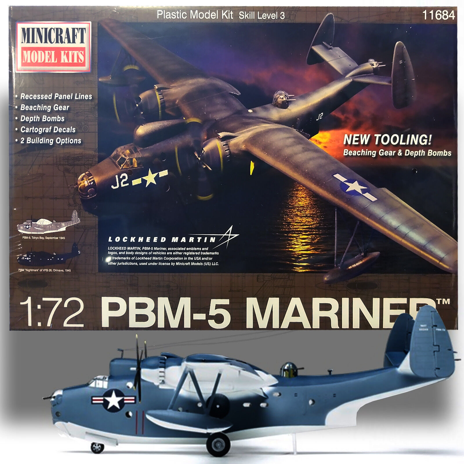 MINI CRAFT 1  72 PBM -5 MARINER PRECISION modellllerL KIT 11684