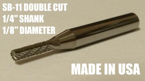 """SB11D Cylindrical Tungsten Carbide Burr Bur Cutting Tool Die Grinder Bit 1//4/"""""""