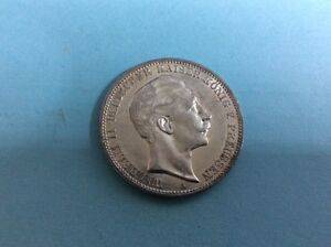 Silber Münze Drei Mark Wilhelm Ii Deutscher Kaiser König Von