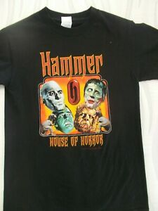 398bc7f487 Details about HAMMER HOUSE OF HORROR 2005 PROMO T-SHIRT SIZE SM USED IN  VERY GOOD CONDITION