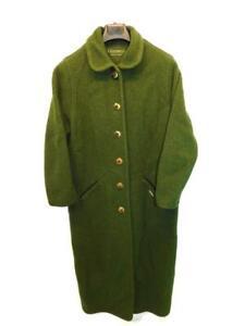 Geisswein-Austria-Size-40-M-Dark-Green-Wool-Coat-Full-Length-Antler-Button-Long