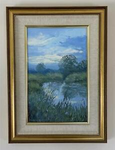 PAMELA DERRY (1932-2002) Oil Painting On Board RIVER LANDSCAPE - 20TH CENTURY