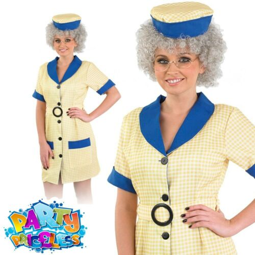 Hi De Hi Peggy Cleaner 80s Fancy Dress Costume Sue Pollard Holiday Camp Outfit