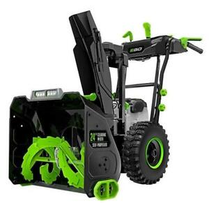 EGO SNT2405 24 2 Stage Snow Blower Kit - 2 x 7.5 Ah Kit with Dual Charger Charger Edmonton Area Preview
