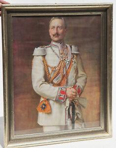 Druck-Kaiser-Wilhelm-in-jungen-Jahren-gerahmt-45-x-55-cm-158221