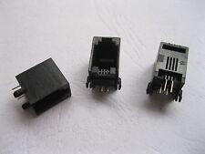 10 Pcs 52 4P4C 90° Modular Network PCB Jack Connector
