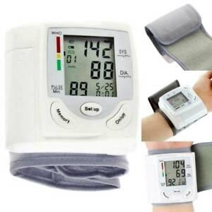Arm Meter Pulse Wrist Blood Pressure Monitor LCD Sphygmomanometer Health Care