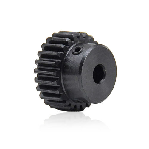 45# Steel Motor Spur Pinion Gear 1Mod 25T Outer Diameter 27mm Bore 6.35mm Qty 1