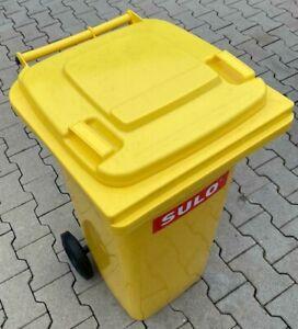 SULO Mülltonne Mülleimer Restmülltonne 2 Rad 120 Liter Gelb - NEU vom Händler