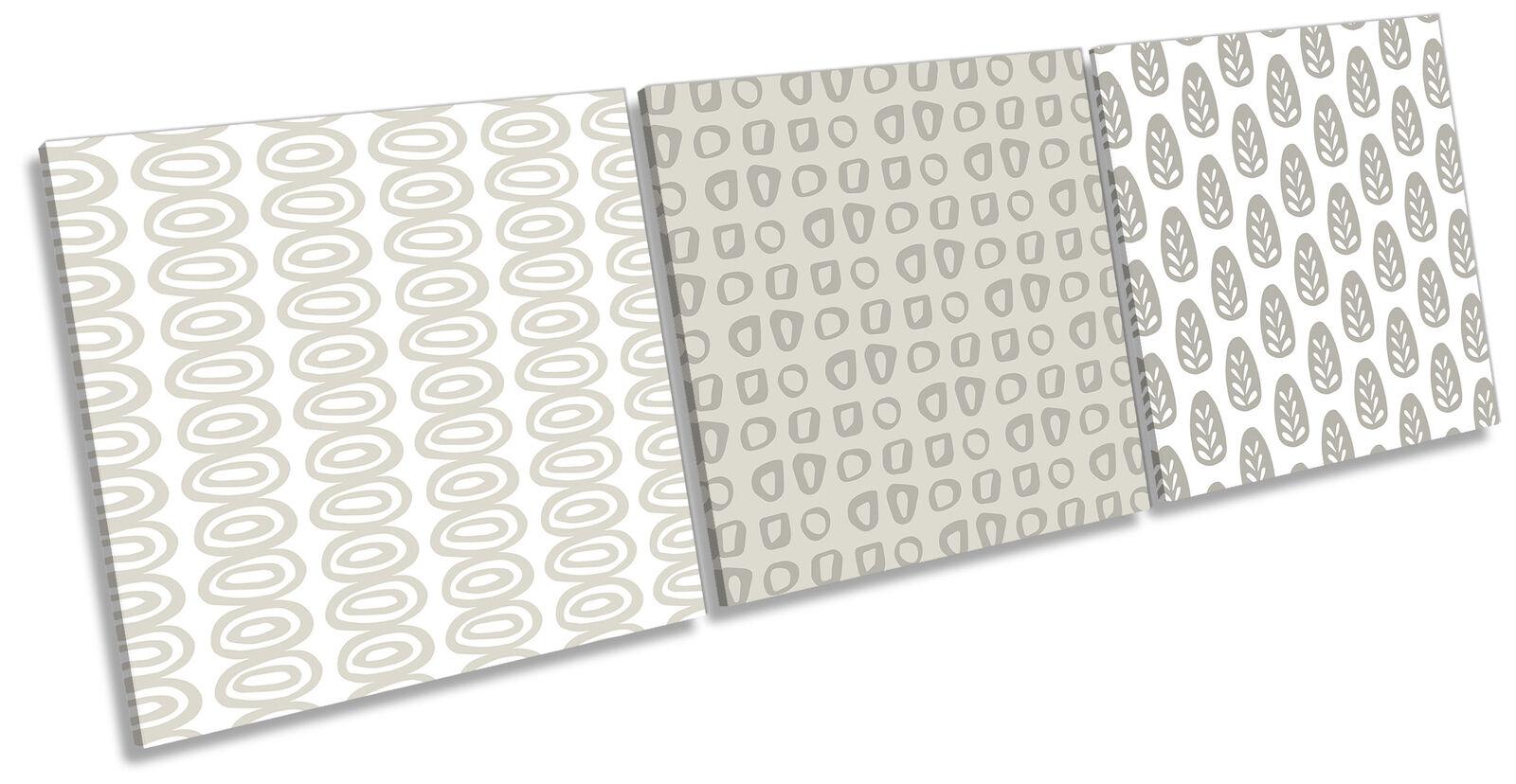Scandinavian Design Set of 3 CANVAS Wand Kunst Drucken Treble grau