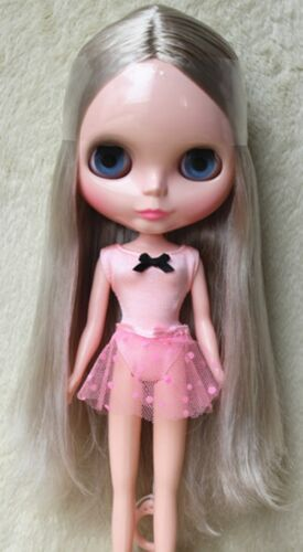 "Takara 12/"" Neo Blythe Doll from Factory Nude Doll Grey long hair SD19 stand"
