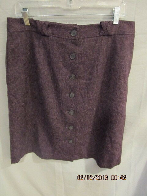 FRENCH CONNECTION PURPLE TWEED POLYESTER BLEND SKIRT SZ 14 NWOTS  139
