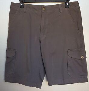 ARIZONA Men's Gray Cargo Shorts SZ 36, 11.5 Inch Inseam