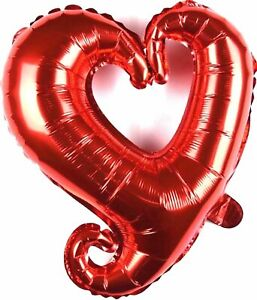 not-Helium-balloon-Herz-Rot-Valentinstag-Folienballon-Hochzeit-Dekoration