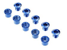 MOWA Road Cyclocross Mountain Bike Crank Chainring Bolts Nuts for Shimano Blue