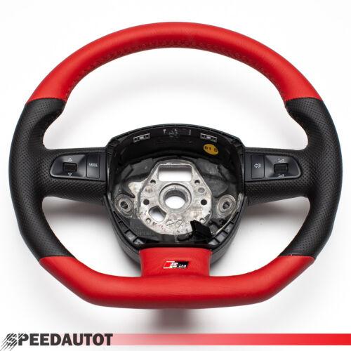 Échange S-LINE Aplati Volant en Cuir Multifonctionnel Rouge-Noir
