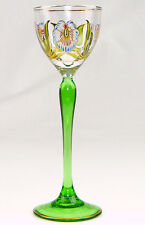 Likörglas Jugendstil um 1910 Sammlerglas Theresienthal od. Meyrs Neffe signiert