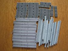 Lego Eisenbahn 12V 10 Stück graue gerade Schienen komplett