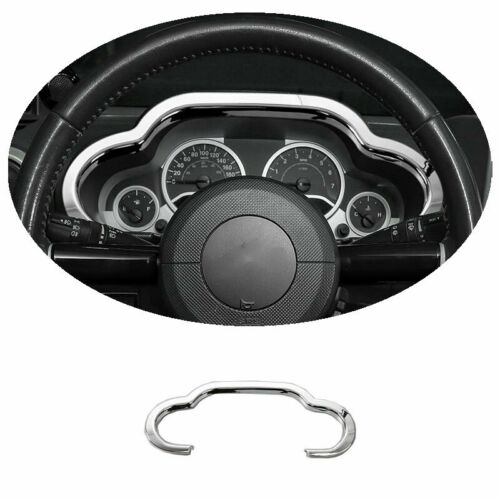 For 2007 2008-2010 Jeep Wrangler JK ABS Chrome Dashboard Panel Frame Cover Trim