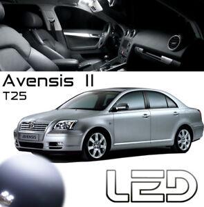 Toyota-AVENSIS-2-T25-5-Ampoules-LED-Blanc-interieur-Plafonnier-Habitacle-lumiere