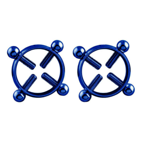 1 Pair Round Non-Piercing Nipple Ring Shield Body Piercing Jewelry Nickel-free
