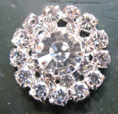 SET á 4 Concho Concha 20 mm Kristall Steine Rhinestone Western