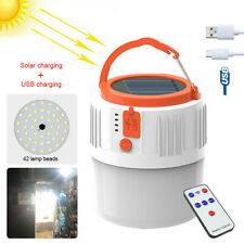 42w Solar Power Rechargeable LED Flashlight Camping Tent Light Hand Lamp Outdoor for sale online