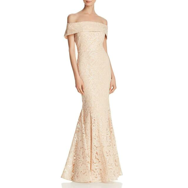 Eliza J Womens Pink Off-The-Shoulder Sequined Prom Formal Dress Gown 6 BHFO 2263