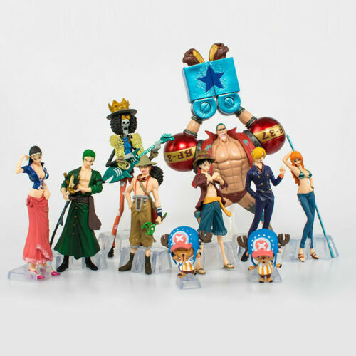 10PS//SET One Piece Monkey·D·Luffy The straw hat Pirates Anime Action Figure Toys