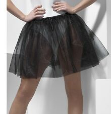 Ladies Petticoat Fancy Dress Underskirt Black Peticoat 2 Layers New by Smiffys