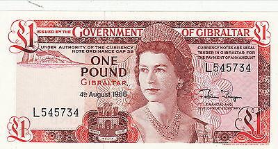 Constructief Gibraltar Unc One Pound 1988 Unc /neuf Meer Comfort Voor De Mensen In Hun Dagelijks Leven