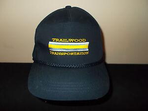 Gut Vtg-1990s Trailwood Transport Seil Leder Stil Strapback Hut Sku3 Herren-accessoires
