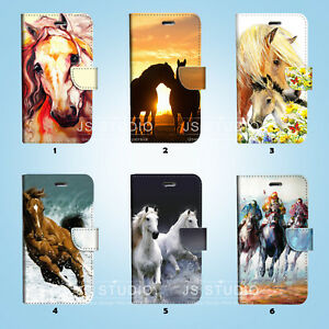 Horse-Racing-Wallet-Case-Cover-Samsung-Galaxy-S3-4-5-6-7-8-Edge-Note-Plus-007
