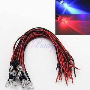 20pcs-LED-Lamp-Light-Bulb-20cm-Pre-Wired-5mm-12V-DC-BLUE-RED-FLASHING-MA432-EW