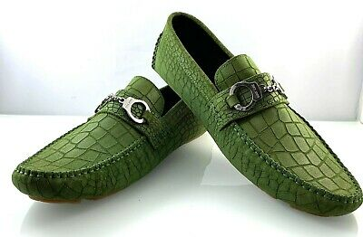 JIMMY CHOO MENS SUEDE LEATHER GREEN